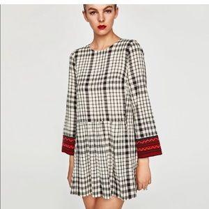 NWT Zara Embroidered Dress